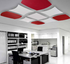 Free hanging acoustic ceiling units