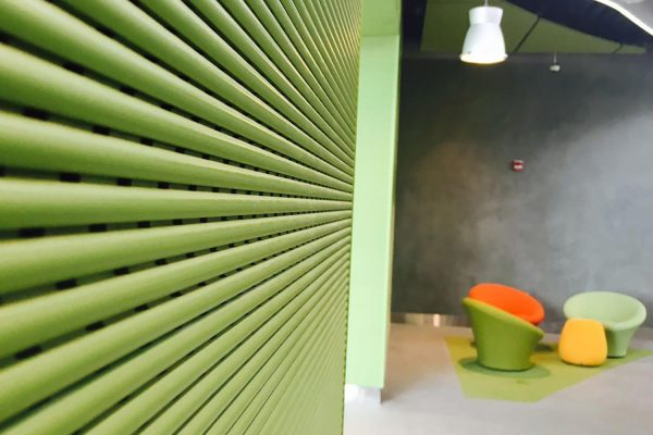 wooden wall absorber